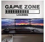 Vinyl Wandtattoo Loading Gamer Video Game Zone Computer Spielzimmer Wandaufkleber Steuern Dekor Schlafzimmer Zimmer Wandbilder 57X19 C