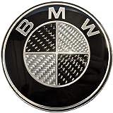 SMP® 82mm Carbon Motorhaube/Heckklappe/Kofferraumdeckel Emblem für BMW [1-2-3-5-6-7-8-X-Z reihe] 51148132375
