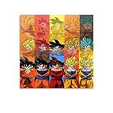Trelemek Son Goku Super Saiyan Anime Leinwand Wandkunst, 30 x 30 cm, Wanddekoration Poster für Esszimmer, Küche, Wohnzimmer, Schlafzimmer, Zuhause, Büro, Flur, Treppen Dekor