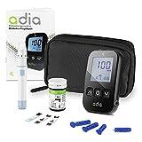 adia Blutzuckermessgerät (mg/dl) inkl. 10 Teststreifen für Diabetiker zur Selbstkontrolle des Blutzuckers bei Diabetes