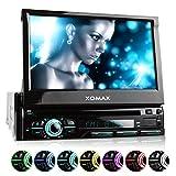 XOMAX XM-DTSB928 Autoradio 18cm / 7 Zoll HD Touchscreen Bildschirm, Bluetooth Freisprecheinrichtung, DVD CD Player, USB, SD, MP3, RDS, Aux, 1DIN, Abnehmbares Bedienteil