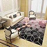 Anti rutsch teppichunterlage Schlafzimmer Rechteckiger Teppich Schwarz Rosa Moderne Anti-Rutsche Schmutzig Anti rutsch teppichunterlage Teppich für Wohnzimmer 160X200CM 5ft 3' X6ft 6.7'