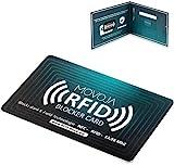 RFID NFC 13,56 Blocker Karte   Erhöhter Schutzradius   Neuste Technologie   Deutsche Marke   Keine Schutzhüllen mehr nötig   E-Field Technologie   MOVOJA   Bankkarte Reisepass Personalausweis
