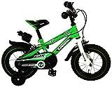 Kawasaki, Kinderfahrrad mit Lizenz, Grün, 12 Zoll