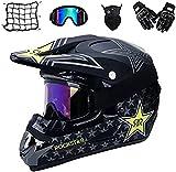 Motocross Helm,Motorrad Crosshelm für Mountainbike ATV BMX Downhill Offroad,Für Motorrad Crossbike Off Road Enduro Sport Jugend Motocross Helm Kinder Motorrad Fahrrad Helm (M)