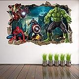 Wandtattoo Super Movie Hero Wall Art Stickers Mural Decal Hulk Spider Man