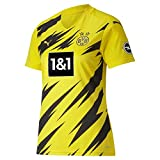 PUMA Damen T-Shirt BVB Home Shirt Replica Womens SS w.Sponsor New, Cyber Yellow-Puma Black, L, 931116