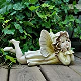 erddcbb Garten Ornament Magic Fairy Statue Garten Engel im Freien dekorative Ornament Skulptur, gelb