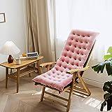 XiXiBoom Schaukelstuhl Stuhlauflage Rechteck Dick Patio Chaise Liege Stuhlkissen Sitzkissen Sonnenliege Sitzkissen Für Reisen Urlaub Indoor Outdoor-Rosa 125x50x10cm(49x20x4inch)