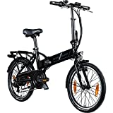 Zündapp Z101+ 20 Zoll E Bike Faltrad Damen Herren Elektrofahrrad klappbar Fahrrad Elektro Klapprad Ebike Pedelec E-Bike Erwachsene Klappfahrrad (schwarz/grau, 37 cm)