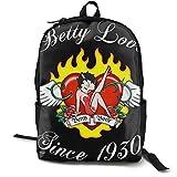 Betty-Bo-Op Wasserdichte Tasche mit zwei Fächern und Laptop-Aufbewahrung für Herren Hustle Rucksack