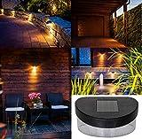 Monster24 6er-Set Solar LED Leuchte für außen mit Dämmerungs-Automatik Gartenleuchte Haus Garage Terrasse Balkon Garten Wand Zaun Treppe Stufen Lampe Licht Sensor Ambiente Beleuchtung Dek