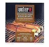 Weber 17521 Wood Wraps aus Zedernholz, 8 Stück, Räuchern, Raucharoma, süß und mild