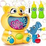 Ucradle Blasenmaschine Kinder, Seifenblasen Maschine und Seifenblasenpistole, Bubble Machine Set mit seifenblasenflüssigkeit Seifenblasenmaschine Spielzeug für Geburtstag Geschenk Weihnachten(Katze)