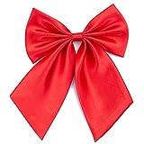 Damen Fliege Schleife Binder Schlips - 28~49 cm Länge Verstellbare Bowknot Krawatten (Heißes Rot)