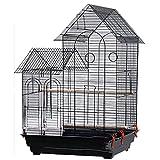 YYDS Vogelkäfig für kleine Papageien, Nymphensittiche, Sonnensittiche, grüne Wangen, Wellensittiche, Finken, Größe: 52 x 41 x 76 cm