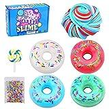 SWZY Schleim Fluffy Set,Butter Slime,Donut Candy Slime Kit,DIY Fluffy Slime für Weich Schleim Jungen Mädchen Geburtstagsgeschenk-4pcs