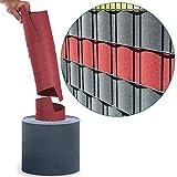 10x Sichtschutzstreifen PP Einzelstreifen (8x anthrazit/ 2x bordeaux) - Spenderrolle Sichtschutz für Doppelstabmatten - Hemmdal PRO - Stärke 1,1 mm - Zaun Sichtschutz 25,3 m Doppelstab