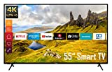 Telefunken XU55K521 55 Zoll Fernseher (Smart TV inkl. Prime Video/Netflix/YouTube, 4K UHD, HDR, HD+) [Modelljahr 2021]