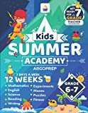 Kids Summer Academy by ArgoPrep - Grades 6-7: 12 Weeks of Math, Reading, Science, Logic, Fitness and Yoga | Online Access Included | Prevent Summer Learning Loss