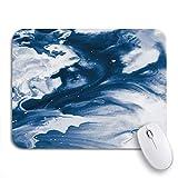 Gaming Mouse Pad Blau Kreative Zusammenfassung Gemalte Wellen Schöne flüssige Marmorfarbe rutschfeste Gummiunterlage Mousepad für Notebooks Computer Mausmatten
