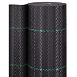 GardenGloss 50m² Bändchengewebe 100g/m² – Unterbodengewebe wasserdurchlässig gegen Unkraut – Unkrautvlies Gartenvlies mit UV-Schutz – Reißfeste Mulchfolie - Unkrautfolie (50m x 1m)