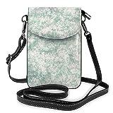 Goxegag Schutzhülle aus Leder für Handy, multifunktional, leicht und elegant, Schulterriemen und verstellbarer Schulterriemen – Textur Marmor Art Grafik