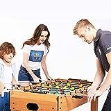 N/Z Tägliche Ausrüstung Tischfußball Indoor Soccer Wood Spieltisch mit 2 Bällen für Erwachsene Home Game Room