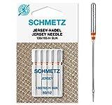 SCHMETZ Nähmaschinennadeln: 5 Jersey-Nadeln, Nadeldicke 80/12, 130/705 H-SUK, auf jeder gängigen Haushaltsnähmaschine einsetzbar, geeignet für das Verarbeiten von Jersey, Strick- und Wirkwaren