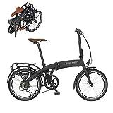 Fischer E-Bike Klapprad / Faltrad FR18, graphitschwarz matt, 20 Zoll, Bafang Hinterradmotor 25 Nm, 36V Akku im Rahmen, 7-Gang Schaltung von Shimano