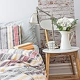 Livingwalls selbstklebendes pop.up Panel 3D in Stein Optik fotorealistisch Backstein 2,50 m x 0,52 m beige braun Creme Made in Germany 955701 95570-1, Weiß, Rostrot