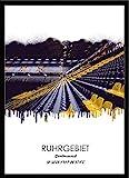 artissimo, Design-Edition, Ruhrgebiets-Bild gerahmt, 51x71cm, PE6448-ER, Ruhrgebiet: Stadt Dortmund, Bild, Wandbild mit Rahmen, gerahmtes Poster, Geschenk-Idee Ruhrpott, Geschenk Ruhrgeb