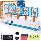 Gafild Zielscheibe für nerf, Digital-Zielgerät Automatisches Pistole nerf mit 20 Stück Pfeile und 1 Stück Handgelenkband, Auto Reset Elektro-Schießzielspielzeug für Kinder