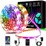 L8star LED Strips, RGB Smart LED Streifen Farbwechsel LED Band, Musik Sync LED Lichterkette mit Fernbedienung und App-steuerung, für Leiste, Zuhause, Schlafzimmer, Küche, Party (20m)