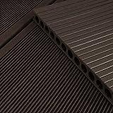 HORI® WPC-Terrassendiele Anthrazit XXL Hohlkammer Diele I Komplettset inkl. 40x60 mm Unterkonstruktion & Clips I Fläche: 1 Muster I Muster Dielenläng