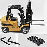 BlackUdragon HUINA TOYS 1577 1/10 8CH Alloy RC Gabelstapler Truck Kran Truck Bau Auto Fahrzeug Spielzeug mit Sound Licht Werkbank Lift RTR