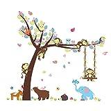 ElecMotive Entfernbare Wandtattoo Wandaufkleber Wall sticker Aufkleber DIY für Wohnzimmer Schlafzimmer Kinderzimmer in Geschenkkarton (Elefant)