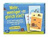 Mehr, weniger oder gleich viel?: Denk- und Legespiele zu Zahlen und Mengen von 1 bis 10 (Denk- und Legespiele für Kinder)