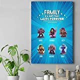 Guyfam M Family Chibi Canvas & Poster, All Character Cute Version Personalized Item, for Fans of Aven Squad and Superhero in Father Day [Live Preview] AM08