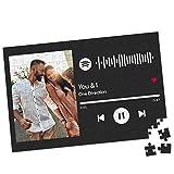 Personalisiertes Puzzle mit Eigenem Foto & Spotify Musik 1000 Teile Farbenfroh Intelligenz Lernspielzeug Bedrucken Bild Geschenk für Erwachsene Kinder Freunde Geburtstag Valentinstag Weihnachten