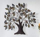 """Wanddeko """"Baum"""" aus Metall, Braun & Kupfer, Natur Wandschmuck, Wandbild, Metalldeko, Hänger"""