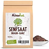 1.000 g Senfsaat braun schwarz Senfsamen Senfkörner braun zur Senf-Herstellung oder Würzen