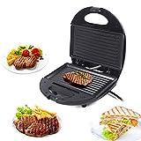 Kontaktgrill mit Regelbarer Thermostat, Antihaftbeschichtet Tischgrill Elektrogrill, Barbecue Elektrisch Grillfläsche für Sandwich, Steak, Panini