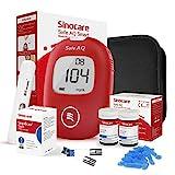 sinocare Safe AQ Smart Blutzuckermessgerät, Diabetes-Set mit Blutzuckerteststreifen x 50, Schmerzfrei & Schnell, Wenig Probenvolumen - mg/dL (safe AQ smart set x 50)