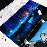 ROZEIP XXL Gaming Mauspad Blu-ray Waldelfen 800x300mm Mousepad Tischunterlage Large Size Multifunktionales Anti Rutsch schreibtischunterlage für Gaming, Tastatur, Computer