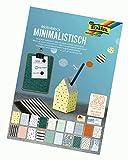 folia 48849 - Motivblock Minimalistisch, 270 g/qm, ca. 24 x 34 cm, 20 Blatt sortiert in 20 verschiedenen Motiven - zum Basteln und kreativen Gestalten von Karten, Fensterbildern und für Scrapbooking