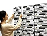 Chunse 10 Packung 3D Wandplatten Abnehmbare Faux Stein Backstein Dekorative PVC Schaum Selbstklebende Tapete Abnehmbare Wanddek