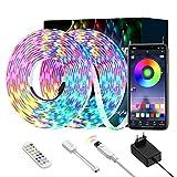 Ltteny LED Strip 10m, Smart RGB LED Streifen Steuerbar via App, Farbwechsel LED Lichterkette mit Sync zur Musik, Anwendung für Schlafzimmer Küche Decke TV Bar Party