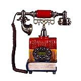 qwertyuio Nostalgische Vintage-Telefon-Stoffkabel-Telefone Klassisches Kreatives Antikes Telefon Europäisches Festes Telefon Zu Hause, Funktionale Tastenwahl Und Klassisches Metallklingeltel