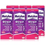 Henkel Metylan Direct Tapetenkleister für Vlies-Tapeten 200g (6er Pack)